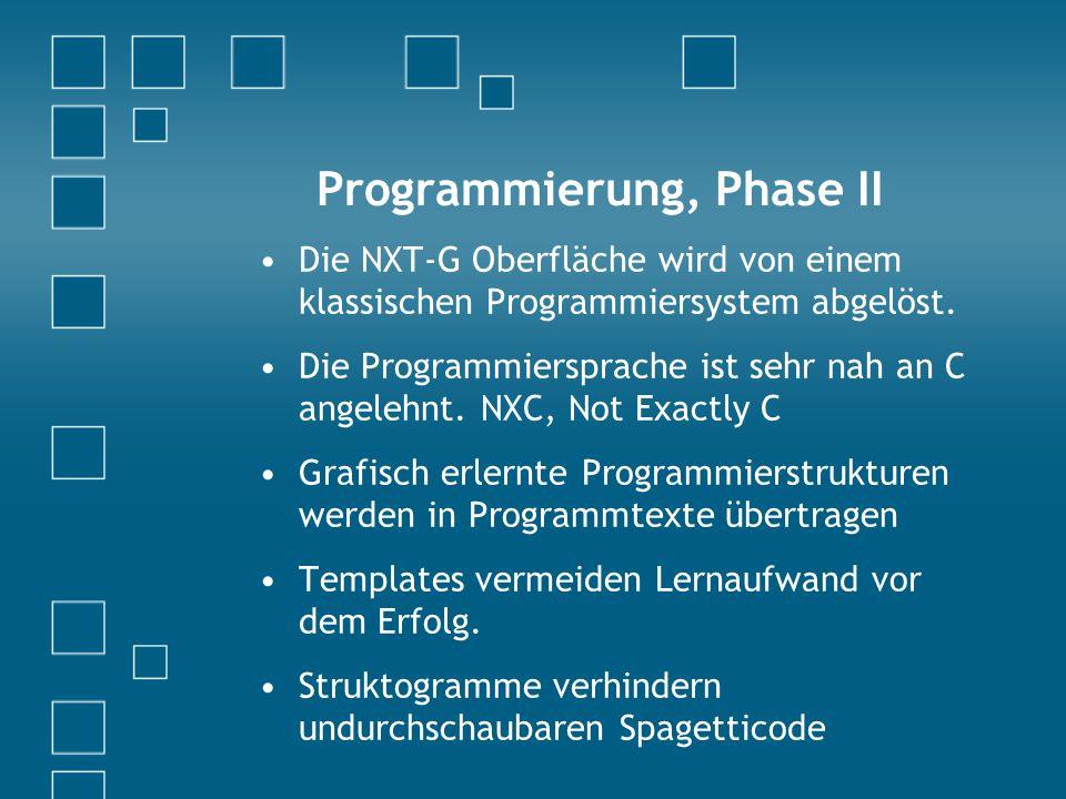 Programmierung, Phase II