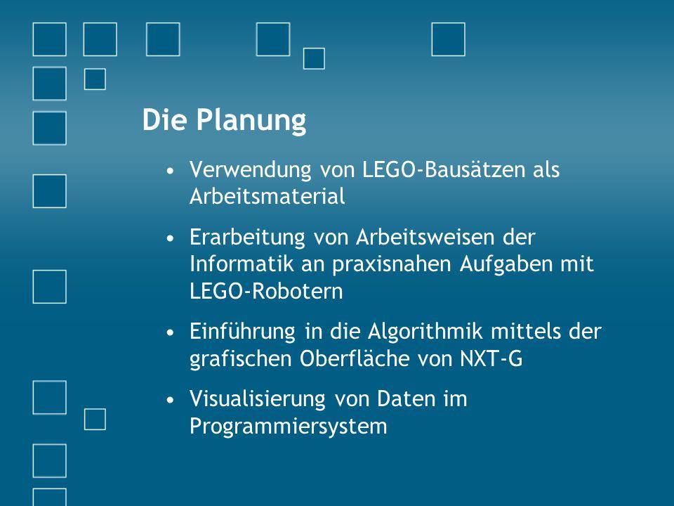 Die Planung Verwendung von LEGO-Bausätzen als Arbeitsmaterial
