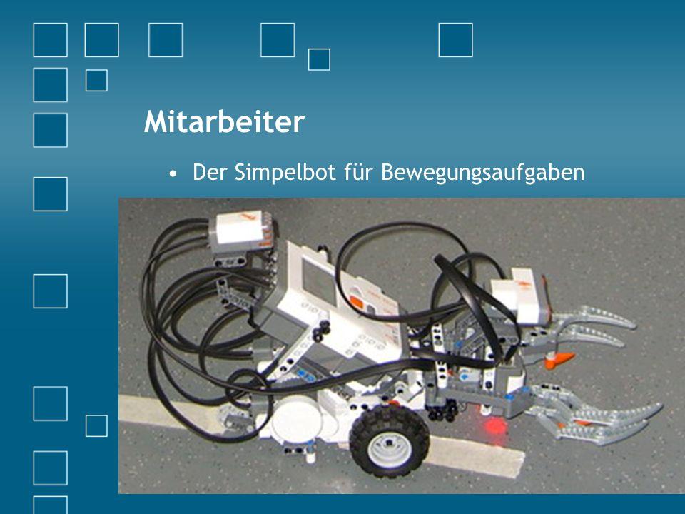 Mitarbeiter Der Simpelbot für Bewegungsaufgaben