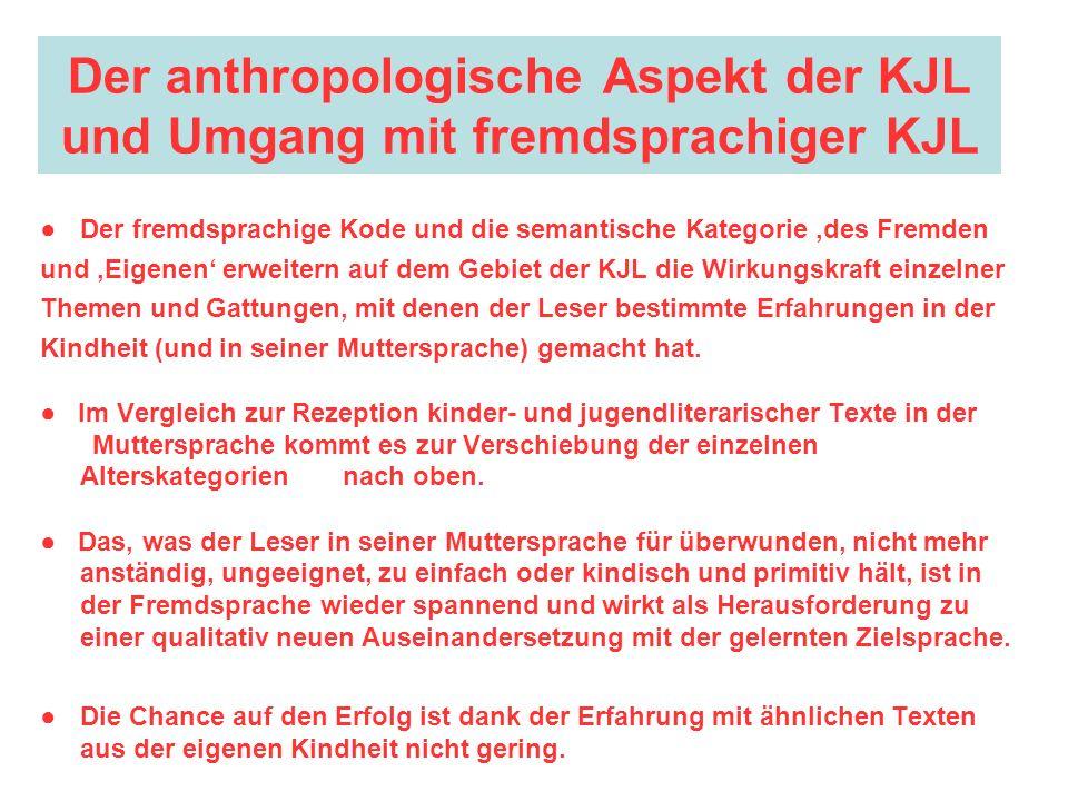 Der anthropologische Aspekt der KJL und Umgang mit fremdsprachiger KJL