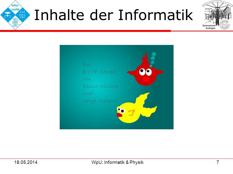 Inhalte der Informatik