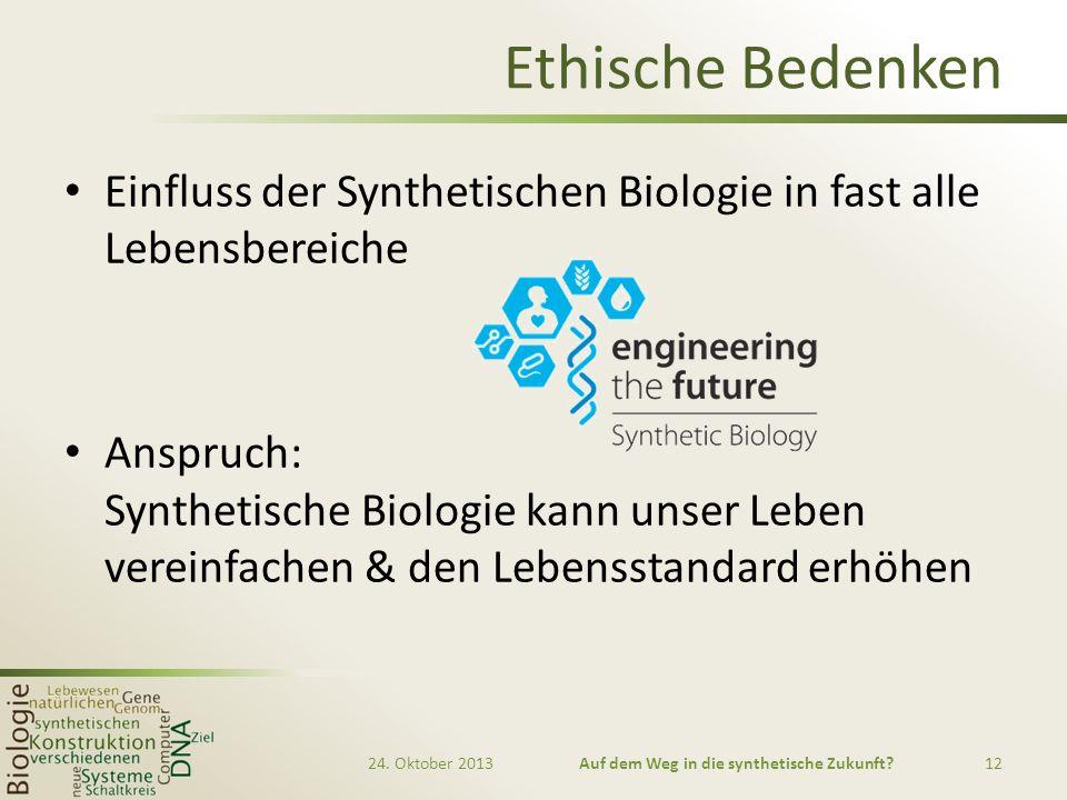 Auf dem Weg in die synthetische Zukunft