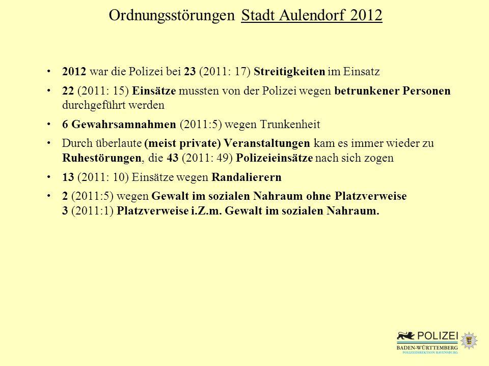 Ordnungsstörungen Stadt Aulendorf 2012