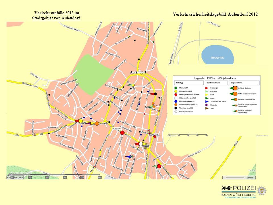 Stadtgebiet von Aulendorf Verkehrssicherheitslagebild Aulendorf 2012