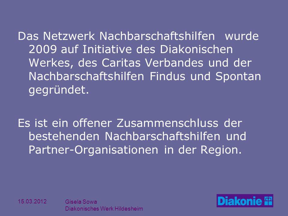 Das Netzwerk Nachbarschaftshilfen wurde 2009 auf Initiative des Diakonischen Werkes, des Caritas Verbandes und der Nachbarschaftshilfen Findus und Spontan gegründet.