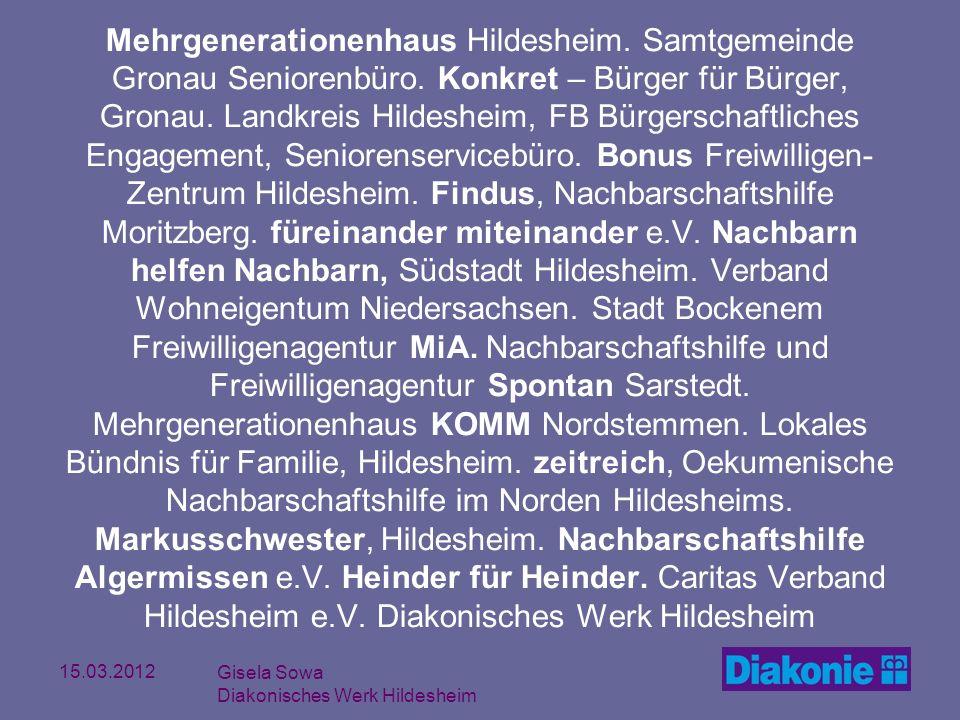 Mehrgenerationenhaus Hildesheim. Samtgemeinde Gronau Seniorenbüro