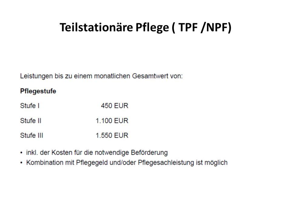 Teilstationäre Pflege ( TPF /NPF)