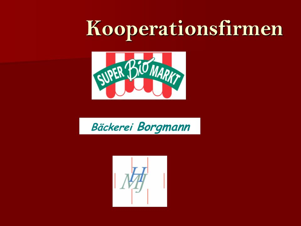 Kooperationsfirmen Bäckerei Borgmann