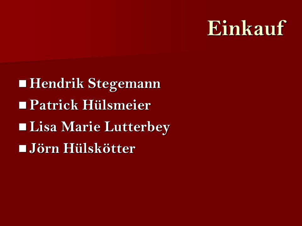 Einkauf Hendrik Stegemann Patrick Hülsmeier Lisa Marie Lutterbey