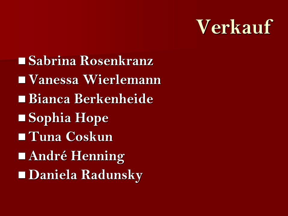 Verkauf Sabrina Rosenkranz Vanessa Wierlemann Bianca Berkenheide
