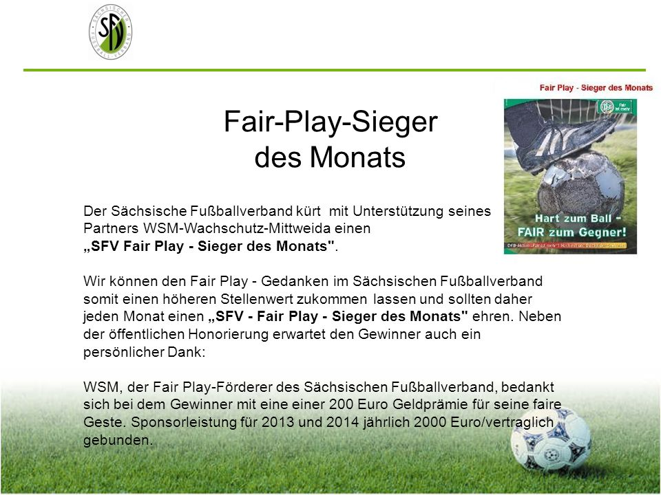 Fair-Play-Sieger des Monats