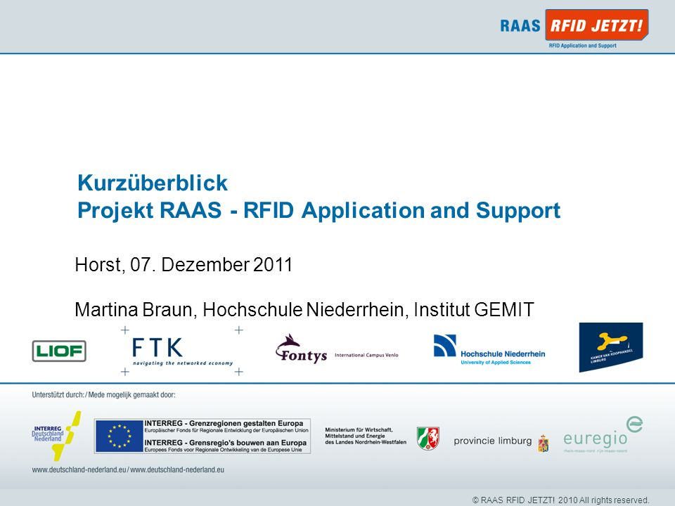 Projekt RAAS - RFID Application and Support