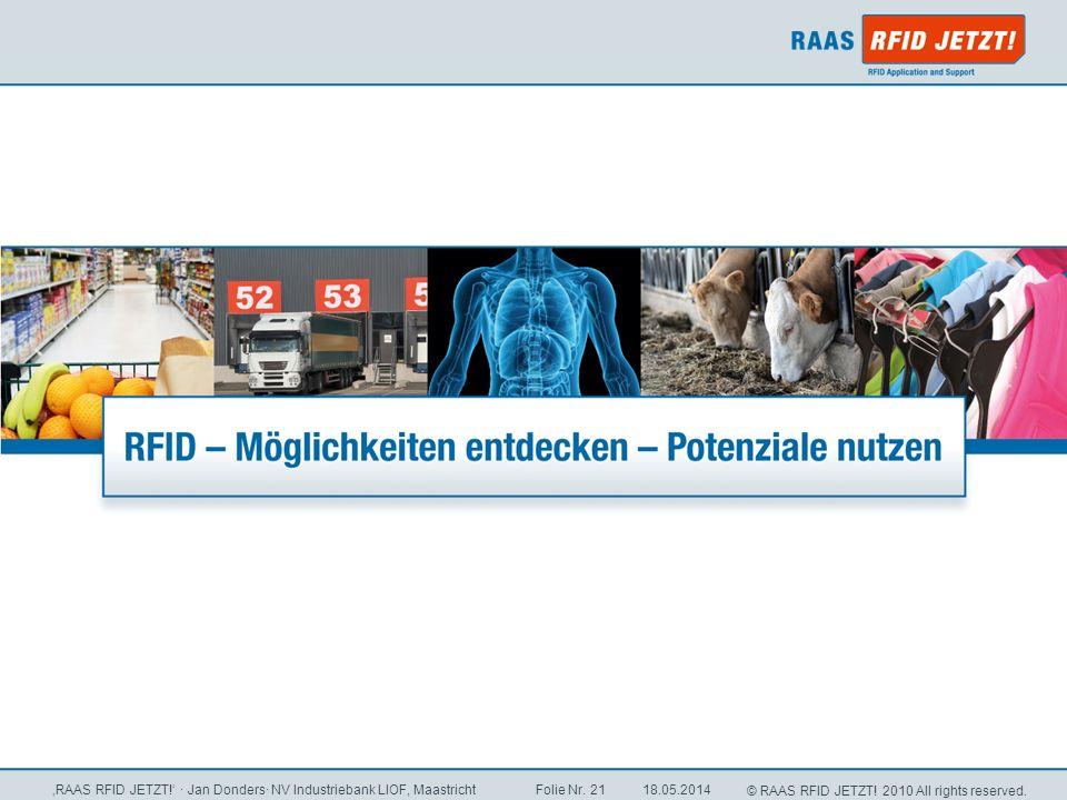 'RAAS RFID JETZT!' · Jan Donders· NV Industriebank LIOF, Maastricht