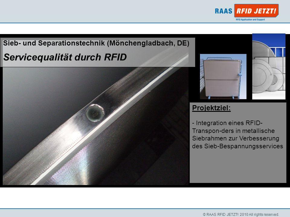 Servicequalität durch RFID
