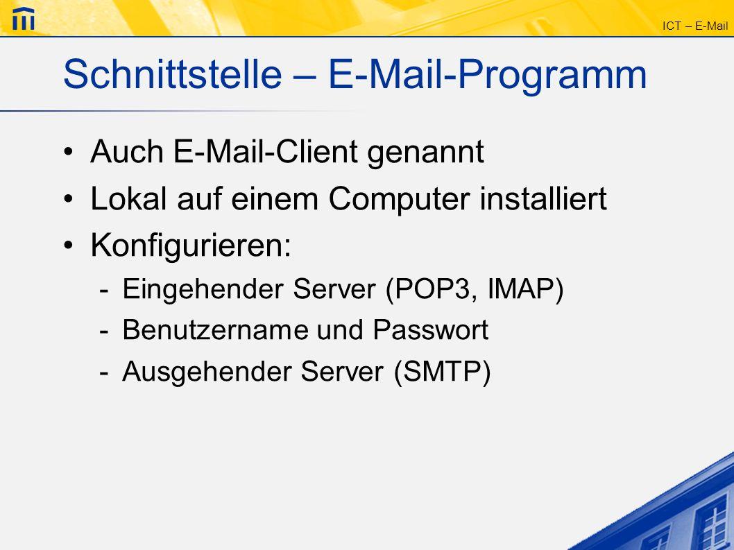 Schnittstelle – E-Mail-Programm