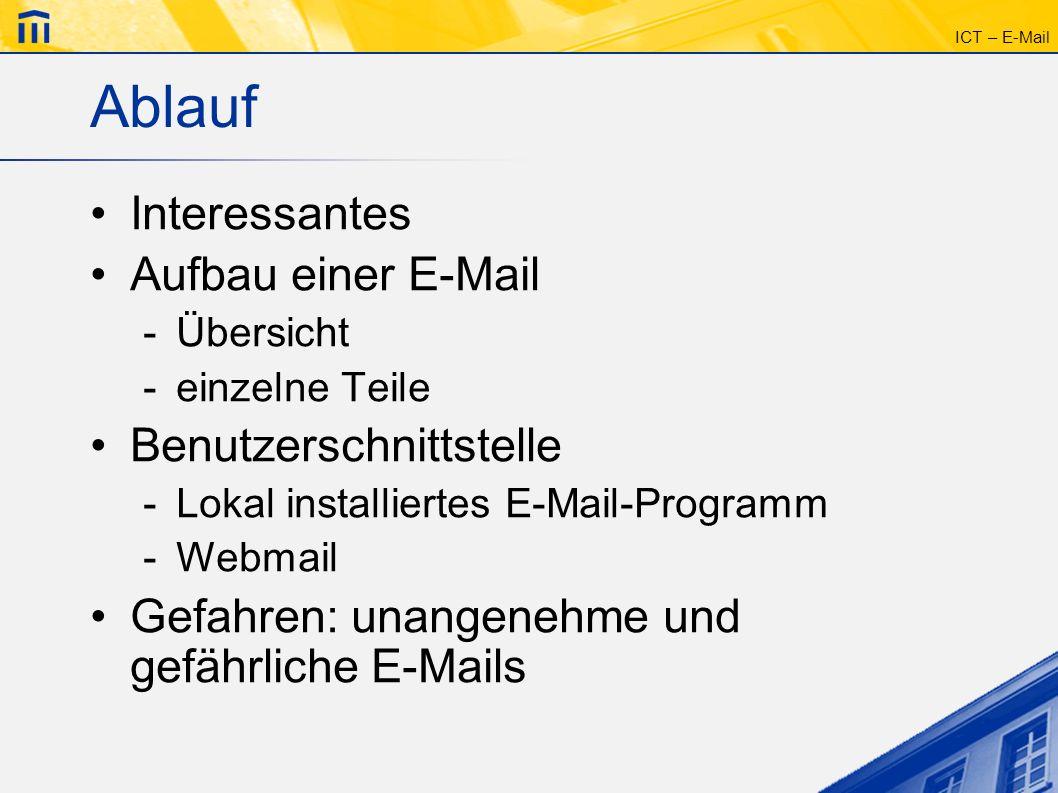 Ablauf Interessantes Aufbau einer E-Mail Benutzerschnittstelle