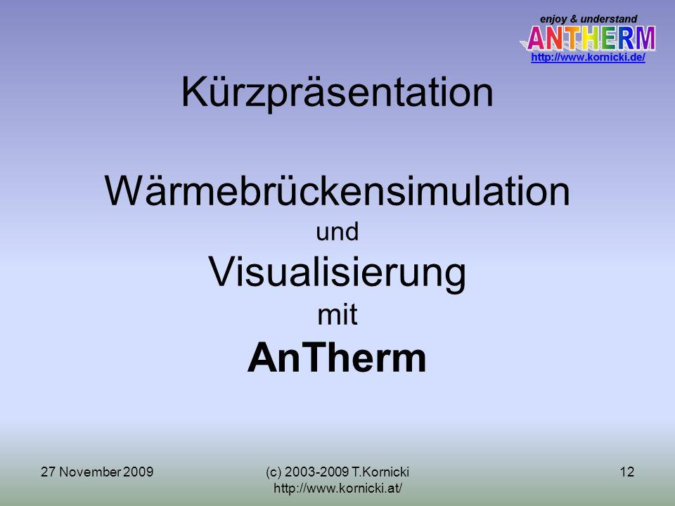 Kürzpräsentation Wärmebrückensimulation und Visualisierung mit AnTherm