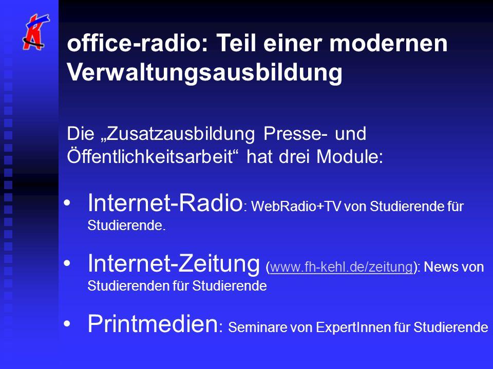 office-radio: Teil einer modernen Verwaltungsausbildung