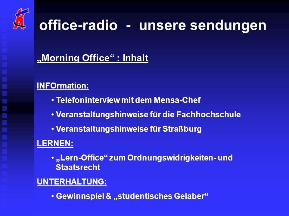 office-radio - unsere sendungen