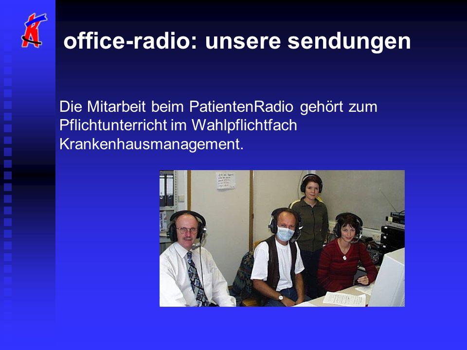 office-radio: unsere sendungen