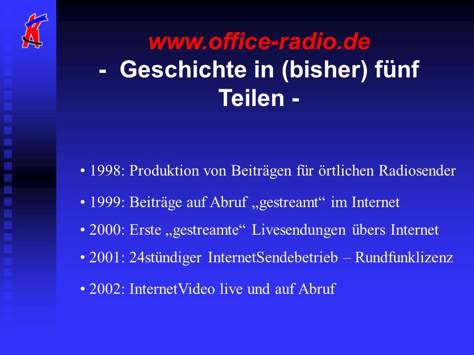 www.office-radio.de - Geschichte in (bisher) fünf Teilen -