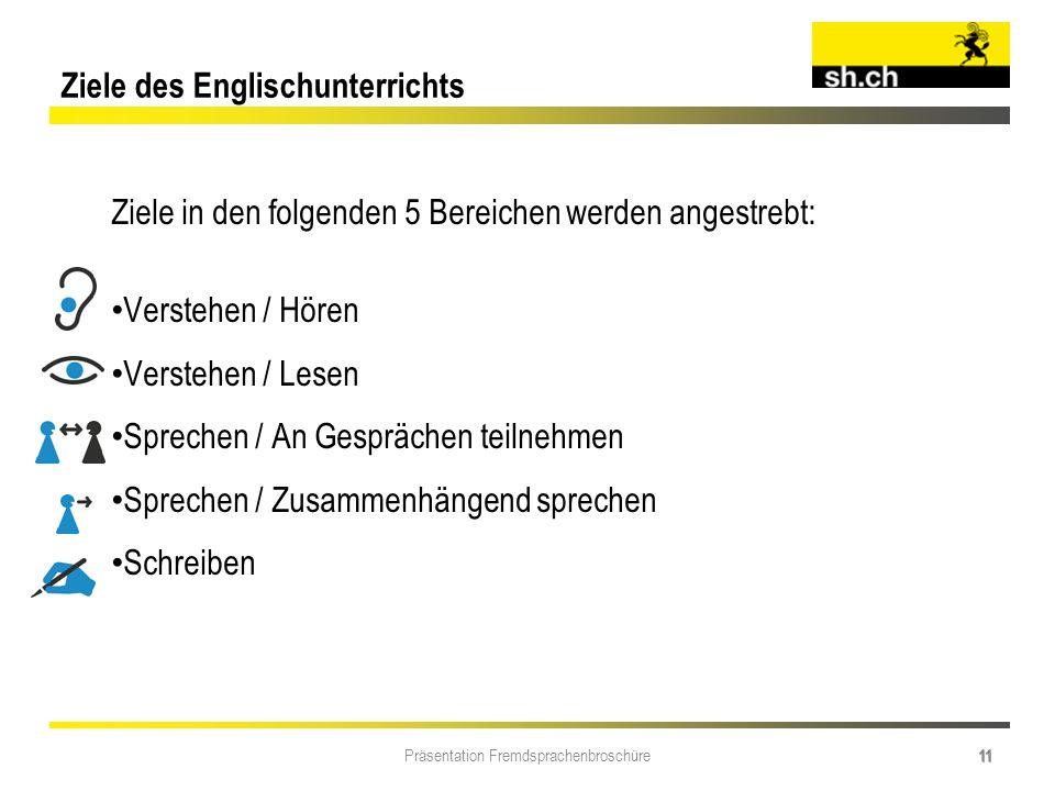 Ziele des Englischunterrichts