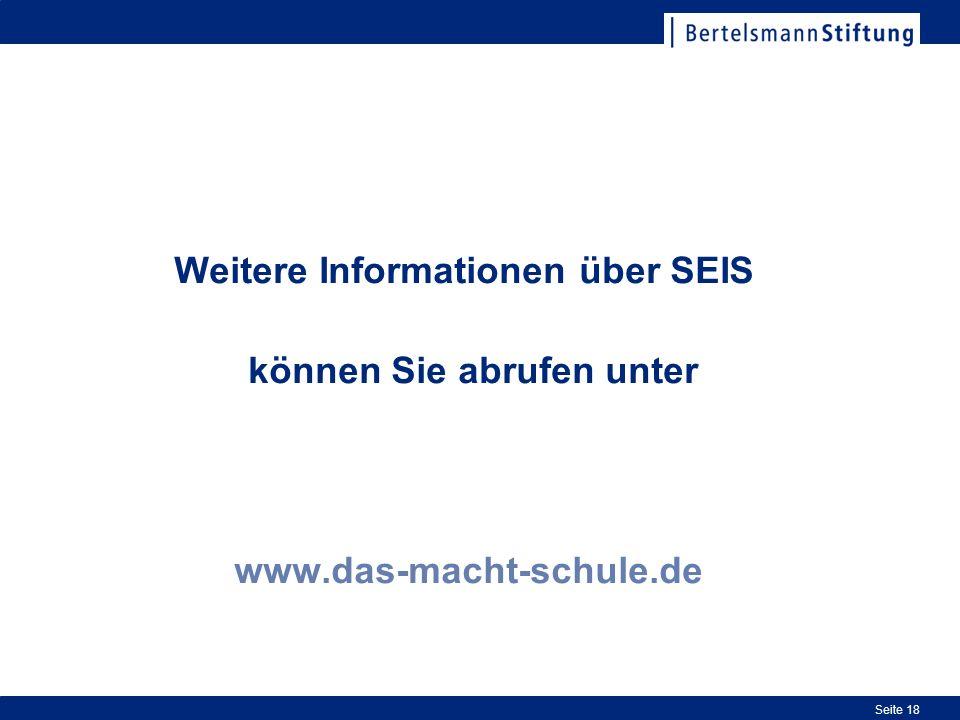 Weitere Informationen über SEIS können Sie abrufen unter