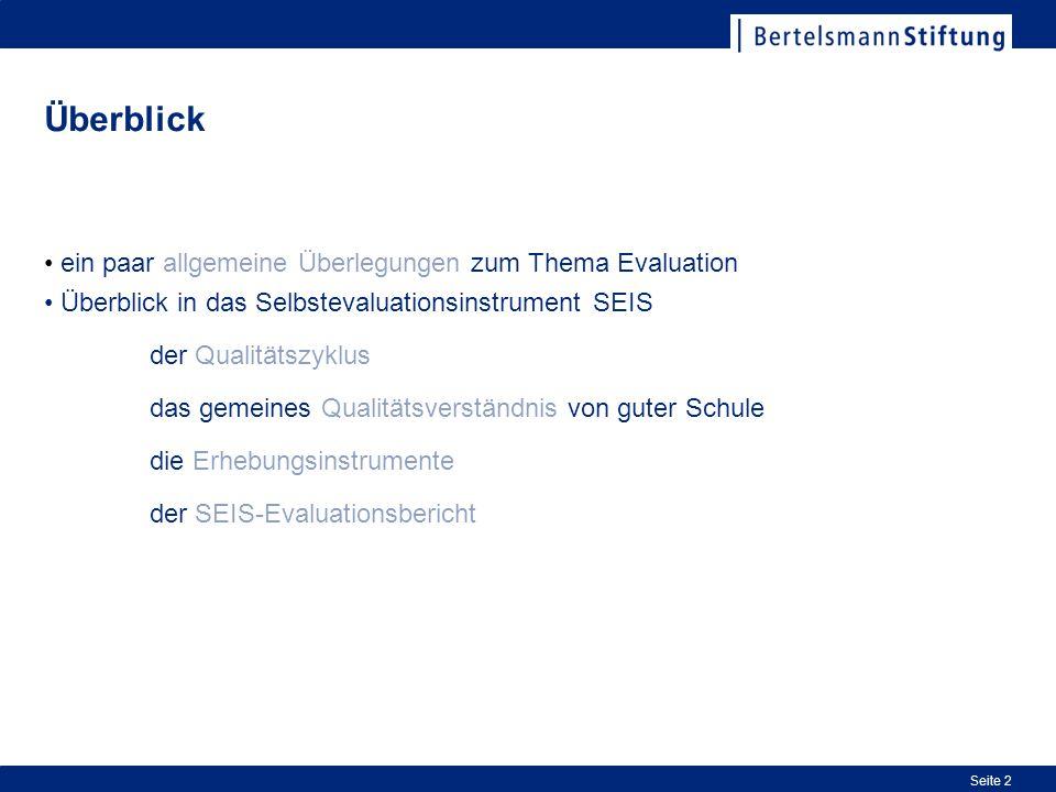 Überblick ein paar allgemeine Überlegungen zum Thema Evaluation