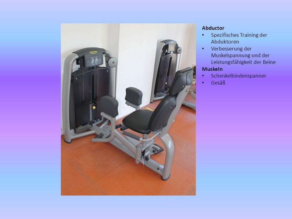 Abductor Spezifisches Training der Abduktoren. Verbesserung der Muskelspannung und der Leistungsfähigkeit der Beine.