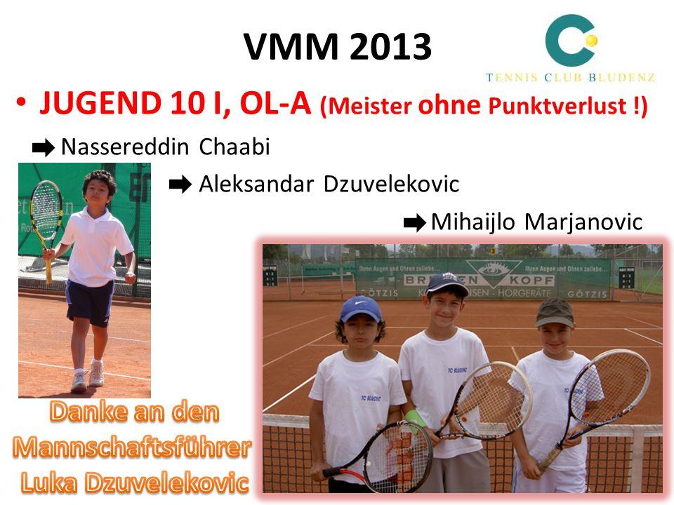VMM 2013 JUGEND 10 I, OL-A (Meister ohne Punktverlust !) Danke an den