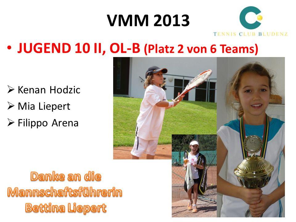 VMM 2013 JUGEND 10 II, OL-B (Platz 2 von 6 Teams) Danke an die