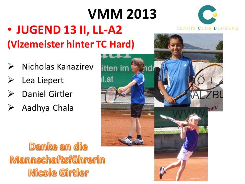 VMM 2013 JUGEND 13 II, LL-A2 (Vizemeister hinter TC Hard) Danke an die