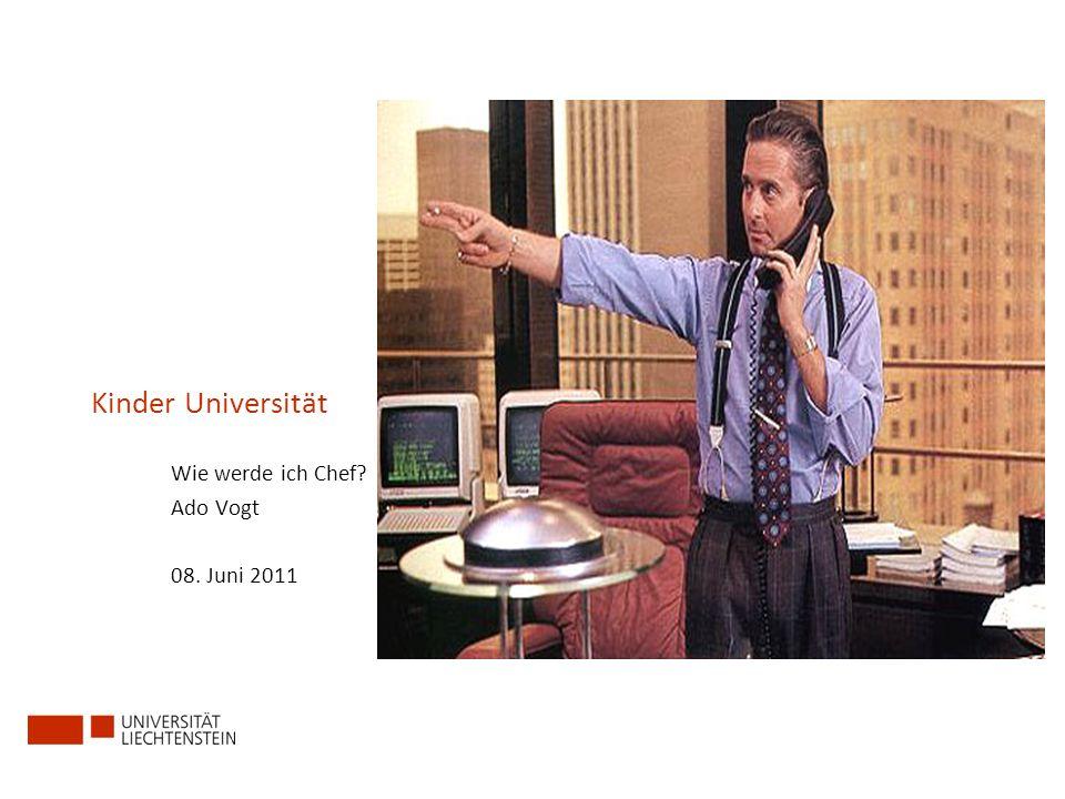 Wie werde ich Chef Ado Vogt 08. Juni 2011