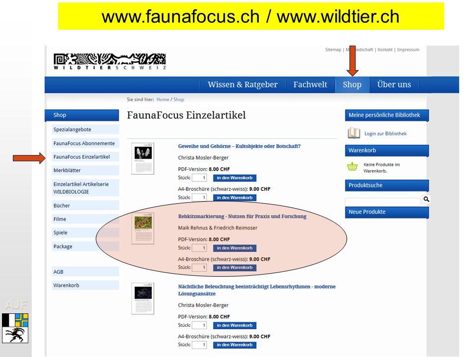 www.faunafocus.ch / www.wildtier.ch