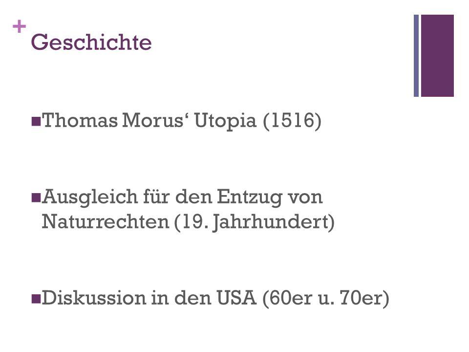 Geschichte Thomas Morus' Utopia (1516)