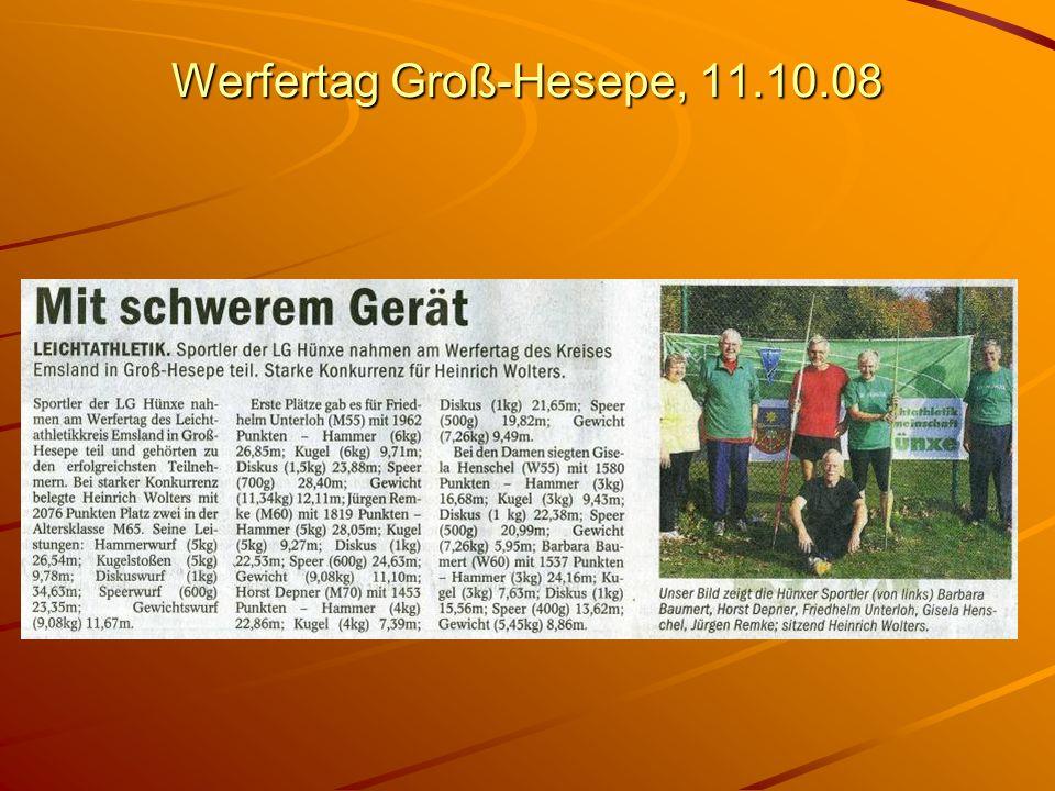 Werfertag Groß-Hesepe, 11.10.08