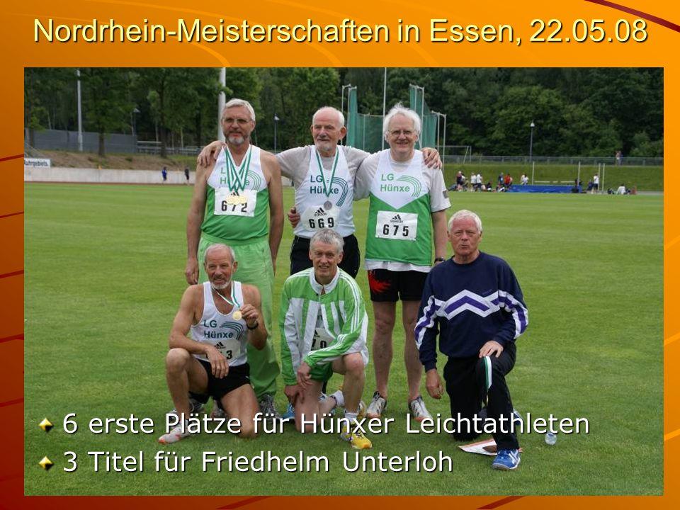 Nordrhein-Meisterschaften in Essen, 22.05.08