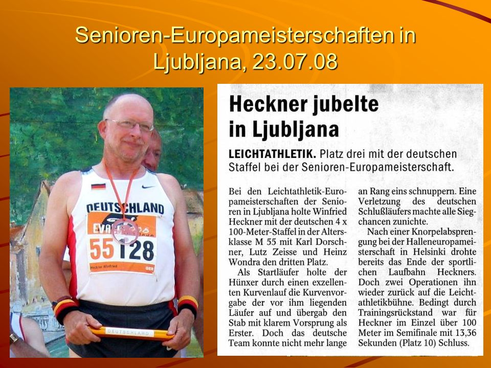 Senioren-Europameisterschaften in Ljubljana, 23.07.08