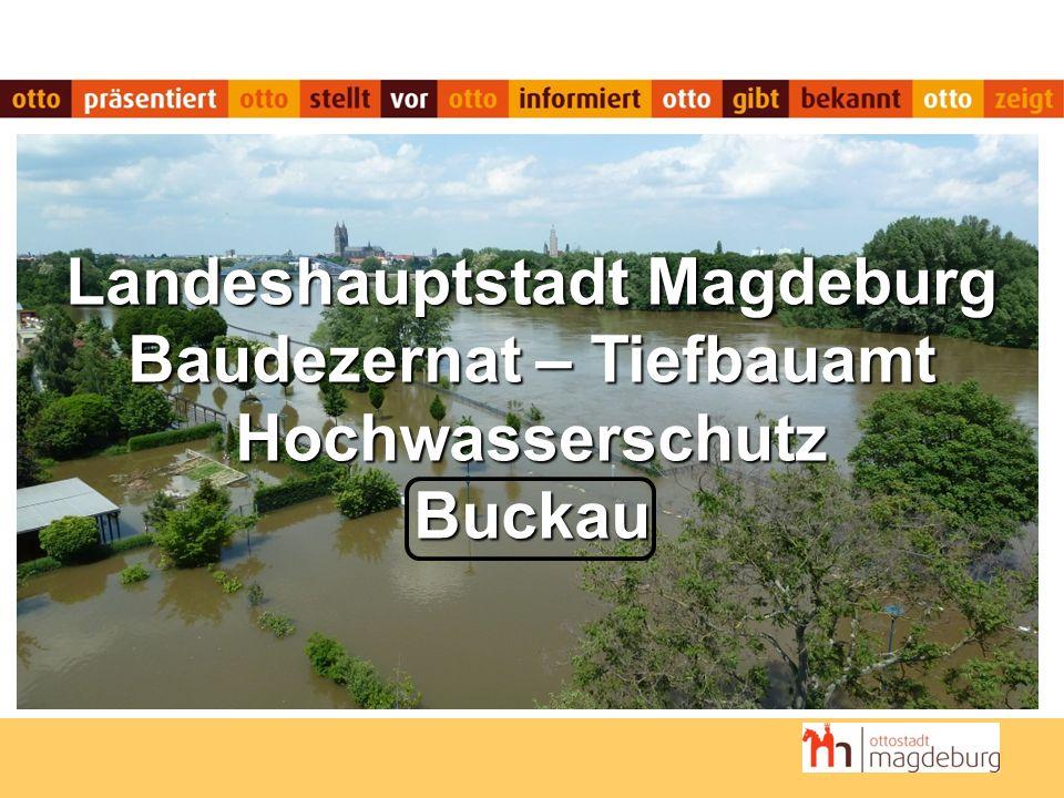 Landeshauptstadt Magdeburg Baudezernat – Tiefbauamt Hochwasserschutz Buckau