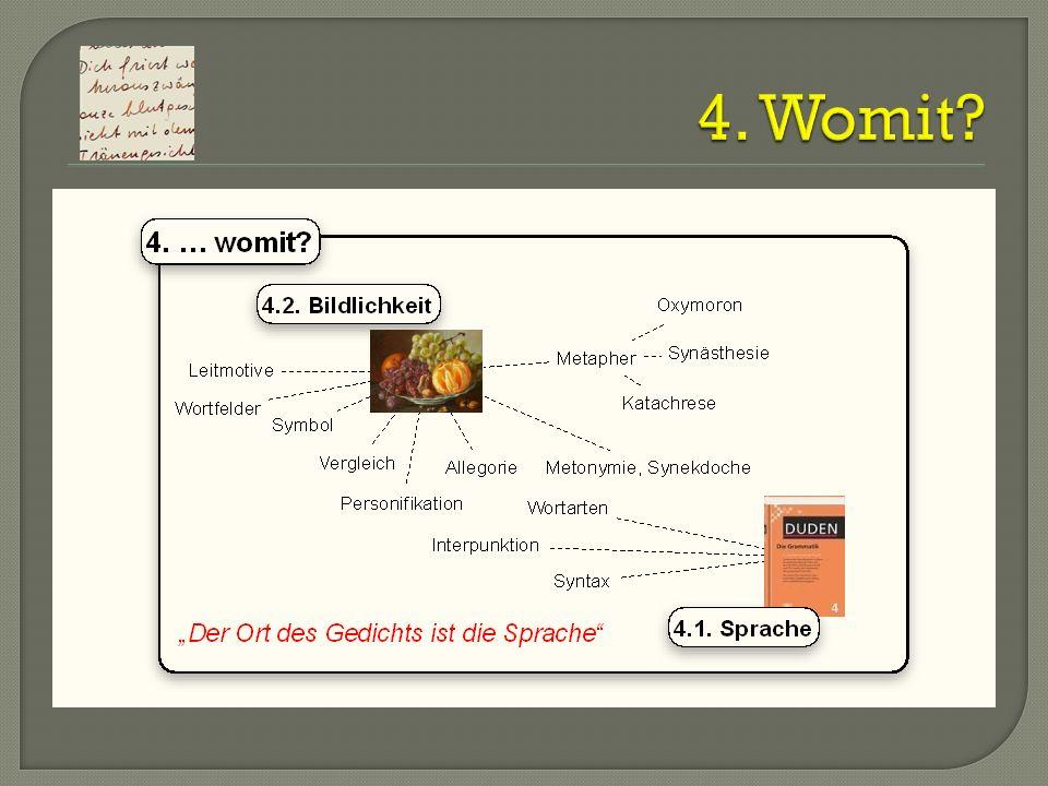 4. Womit Katachrese (Bildbruch): Das ist der Funke, der das Fass zum Überlaufen bringt.
