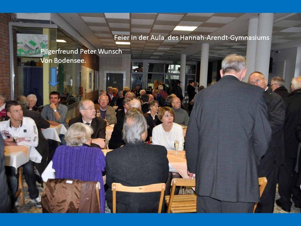 Feier in der Aula des Hannah-Arendt-Gymnasiums