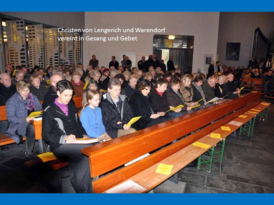 Christen von Lengerich und Warendorf vereint in Gesang und Gebet