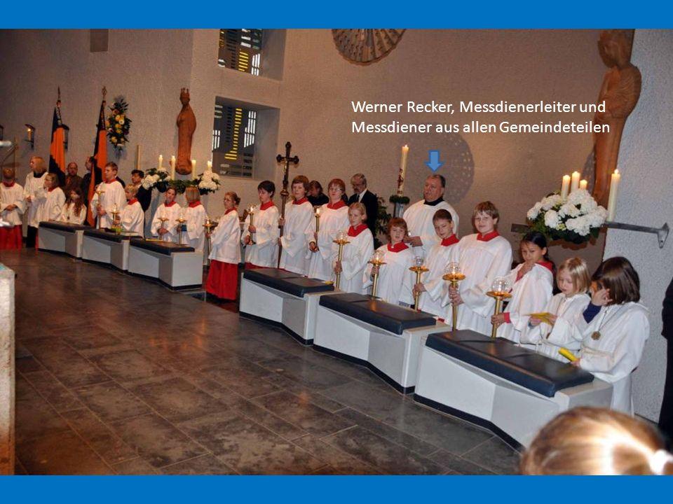 Werner Recker, Messdienerleiter und Messdiener aus allen Gemeindeteilen