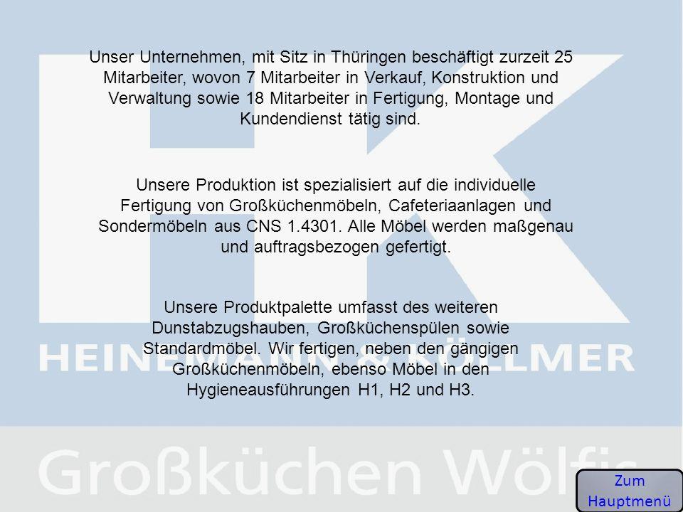 Unser Unternehmen, mit Sitz in Thüringen beschäftigt zurzeit 25 Mitarbeiter, wovon 7 Mitarbeiter in Verkauf, Konstruktion und Verwaltung sowie 18 Mitarbeiter in Fertigung, Montage und Kundendienst tätig sind.