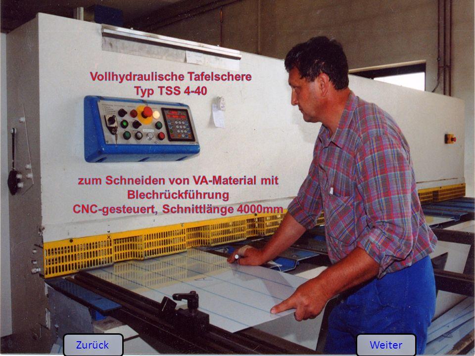 Vollhydraulische Tafelschere Typ TSS 4-40