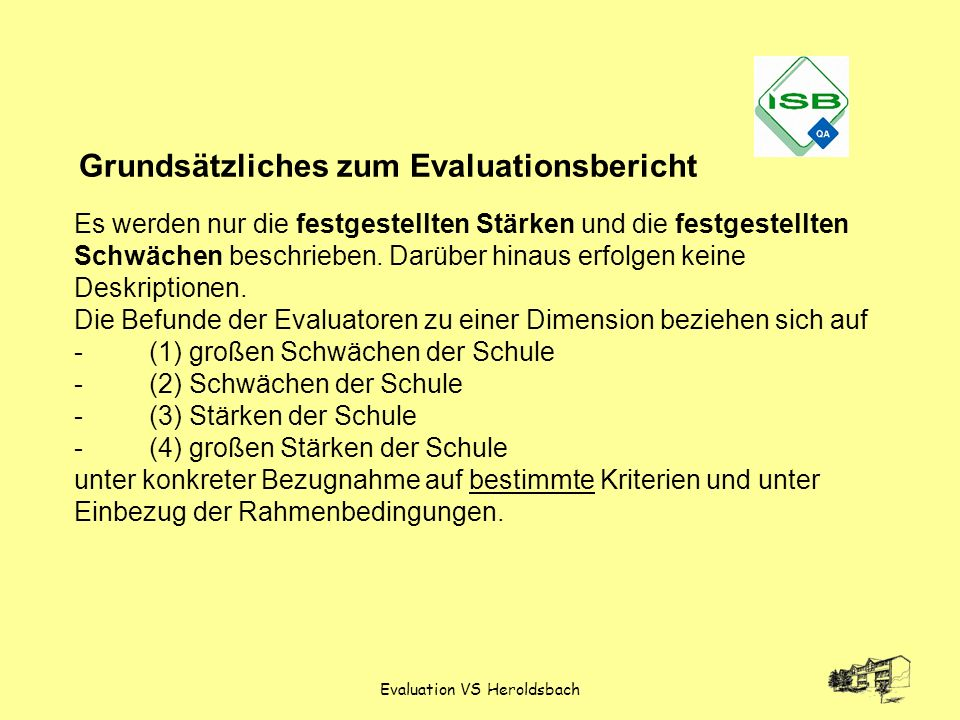 Evaluation VS Heroldsbach