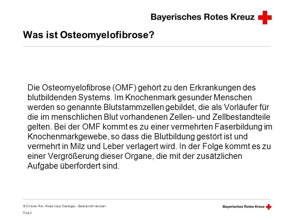 Was ist Osteomyelofibrose