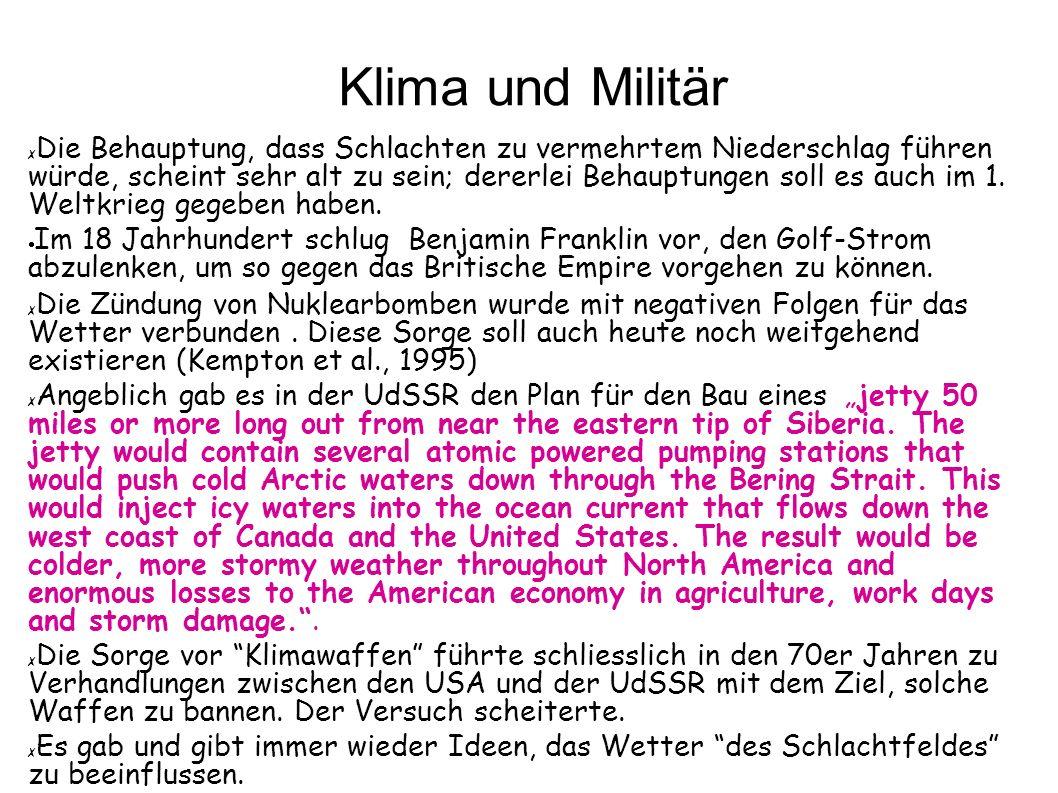 Klima und Militär