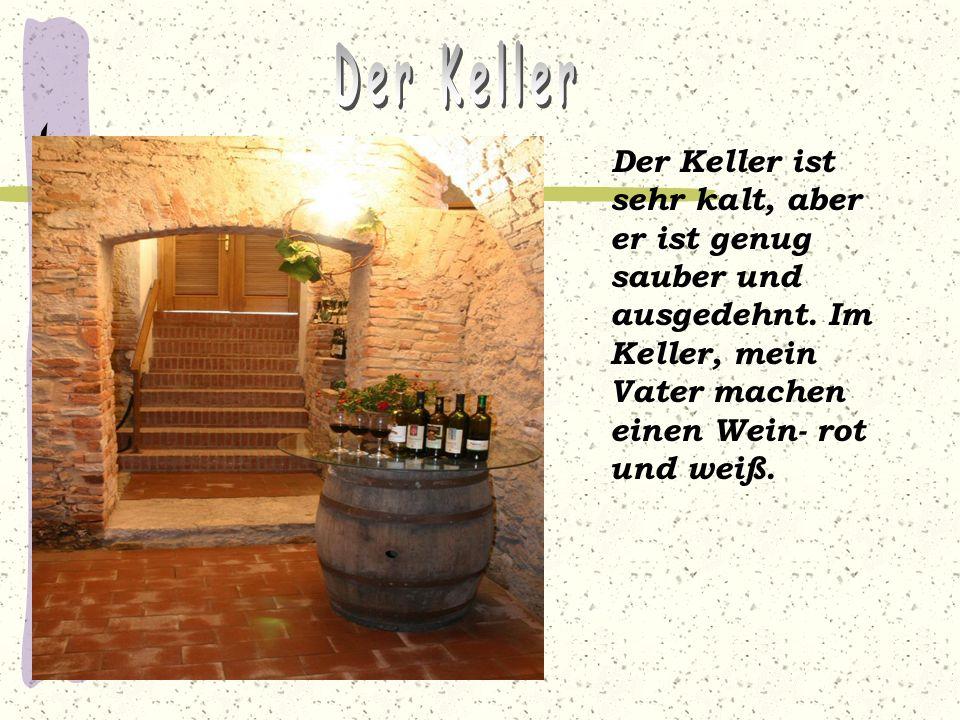 Der Keller Der Keller ist sehr kalt, aber er ist genug sauber und ausgedehnt.