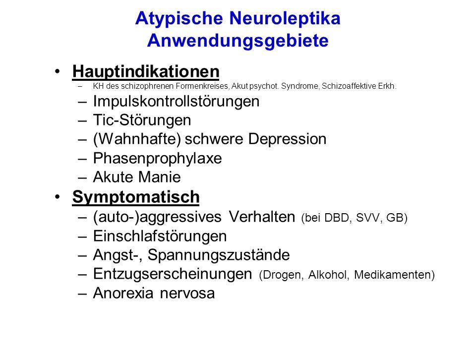 Atypische Neuroleptika Anwendungsgebiete